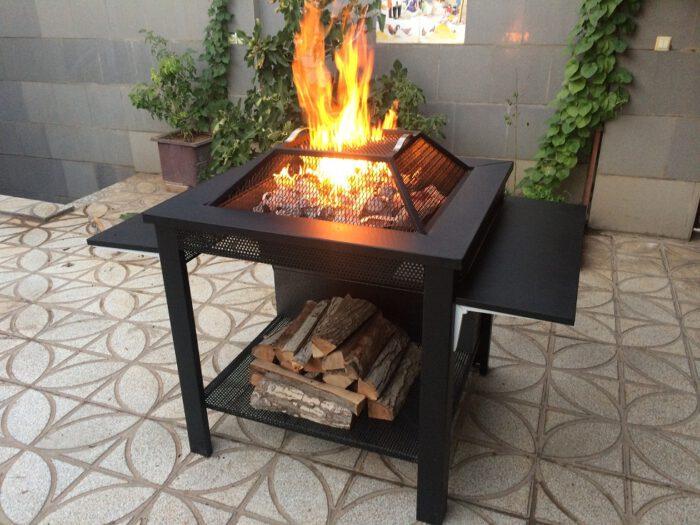 و آتشکده هیزم سوز چوب سوز باربیکیو 2 700x525 - آتشدان هیزمی سوز و چوب سوز تیپ3 مربع