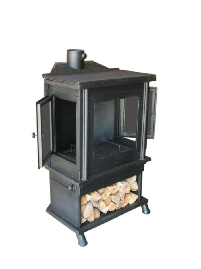 هیزم سوز چوب سوز زغالی 2 700x935 - بخاری هیزمی مدل آپادانا