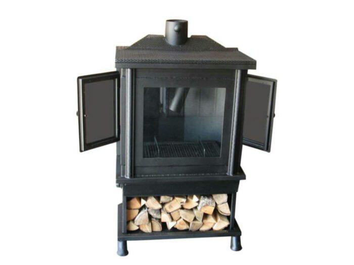 هیزم سوز چوب سوز زغالی 4 700x524 - بخاری هیزمی مدل آپادانا