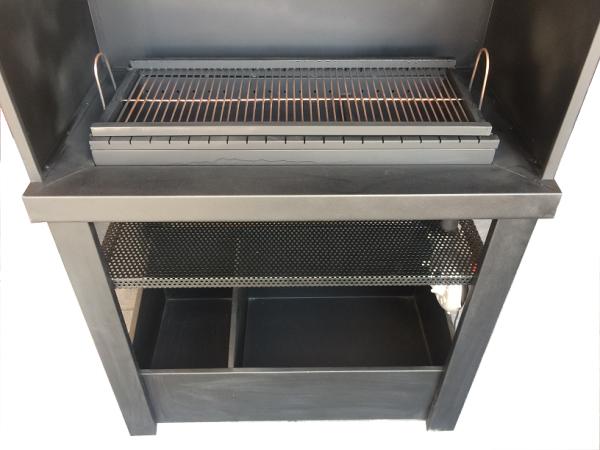 پز و باربیکیو منقل زغالی 1 600x450 - باربیکیو و کباب پز زغالی مدل آذران