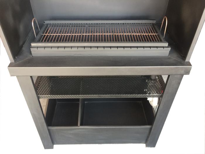 پز و باربیکیو منقل زغالی 1 700x525 - باربیکیو و کباب پز زغالی مدل آذران