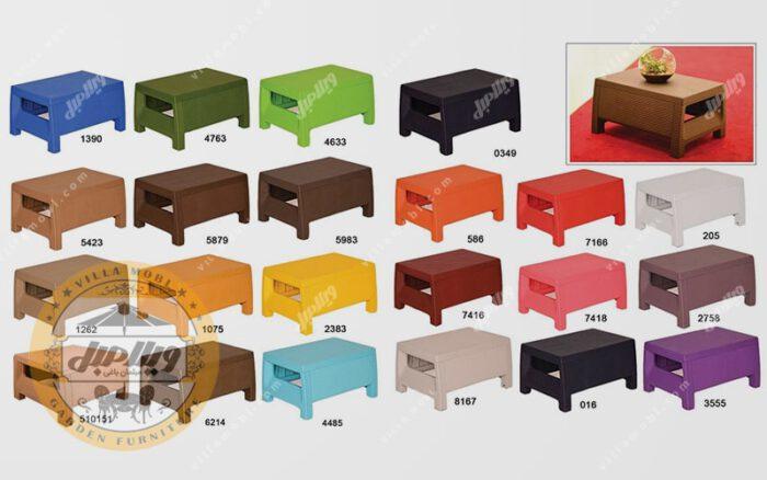 رنگبندی میز پلیمری طرح حصیربافت