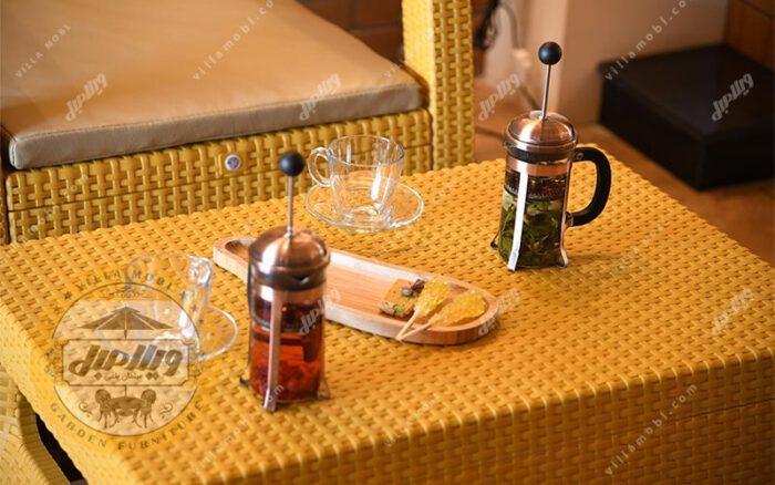میز طرح حصیربافت