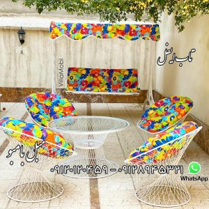 باغی بامبو با تشک 300x300 - مبلمان باغی و تاب باغی و تاب راحتی ریلکسی،باربیکیو، چتر