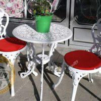 میزوصندلی باغی و آشپزخانه گل رز