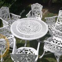 میز و صندلی باغی مرغابی آلومینیومی