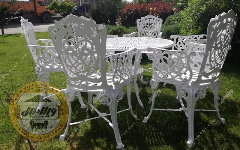 میز و صندلی آلومینیومی باغی مرغابی