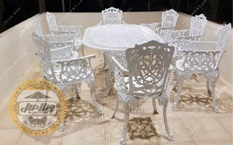 میز آلومینیومی مرغابی