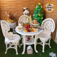 صندلی میز پلاستیکی پلیمری طاووسی 4نفره