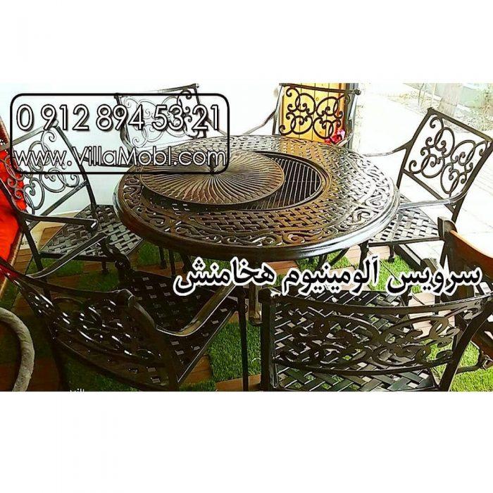میزوصندلی با میز آتشدان