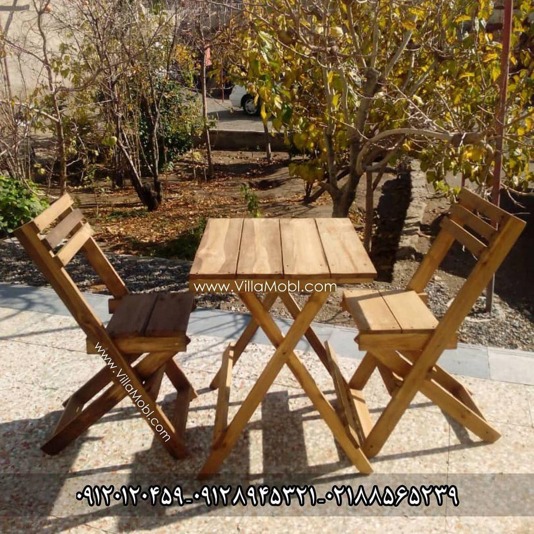 چوبی تاشو - میزوصندلی و نیمکت تاشو چوبی