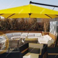چتر باغی سایه بان پایه کنار مربع 3در3متر