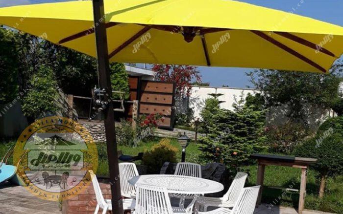 چتر باغی سایه بان پایه کنار مربع 3 متر