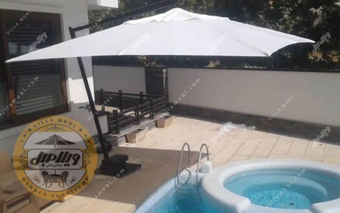 چتر باغی پایه کنار مربع 3در3متر