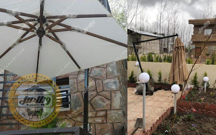 چتر باغی سایه بان پایه کنار مربع