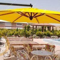چتر باغی سایه بان پایه کنار قطر سه متر