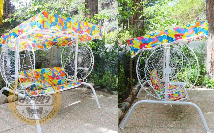 تاب باغی و تاب حیاطی مدل گلبرگ دو نفره