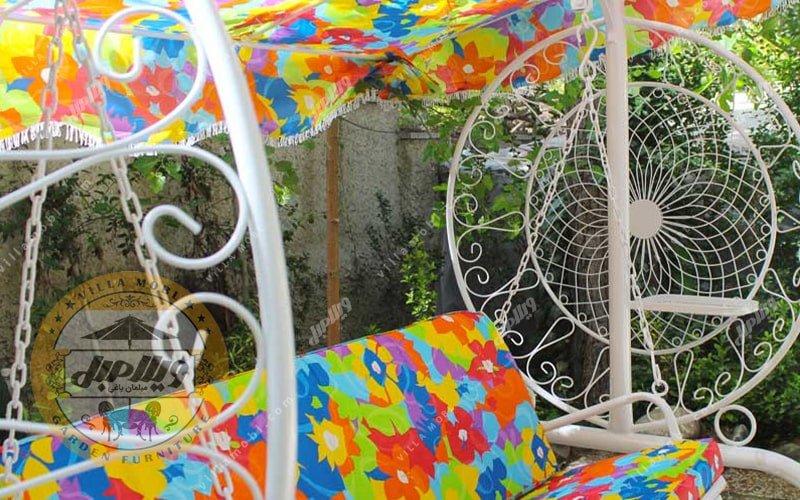 تاب باغی و تاب حیاطی مدل گلبرگ 2 نفره