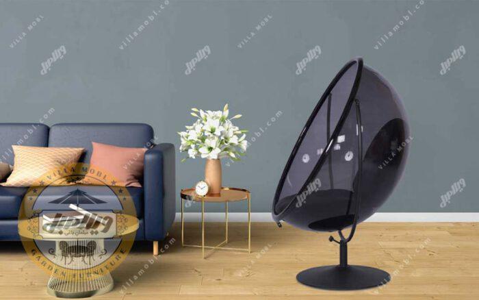صندلی ریلکسی شیشه ای راک مدل گلزار