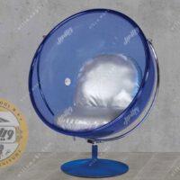 صندلی شیشه ای ریلکسی مدل گلزار