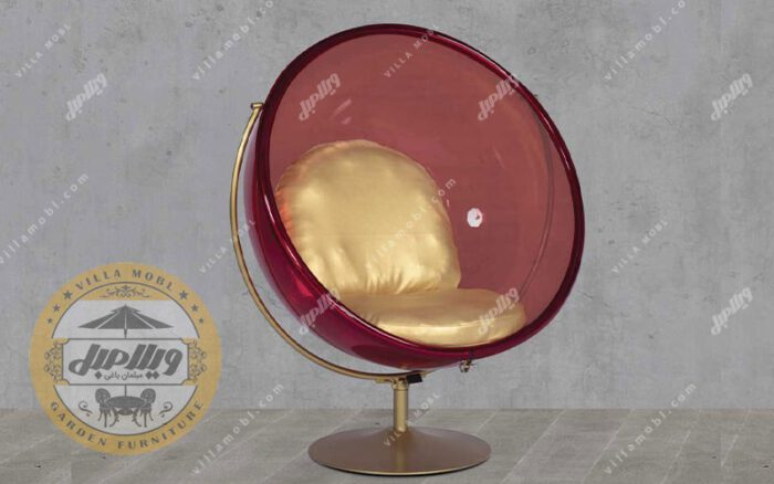 صندلی شیشه ای راک گلزار