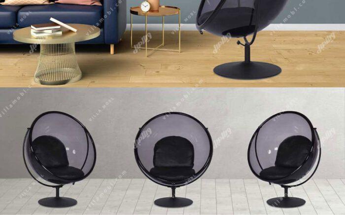 صندلی شیشه ای راک و ریلکسی مدل گلزار