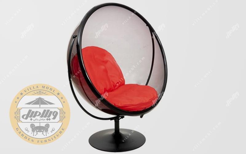 صندلی ریلکسی جنس شیشه راک مدل گلزار