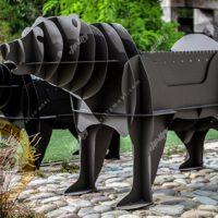 باربیکیو زغالی مدل خرس بزرگ