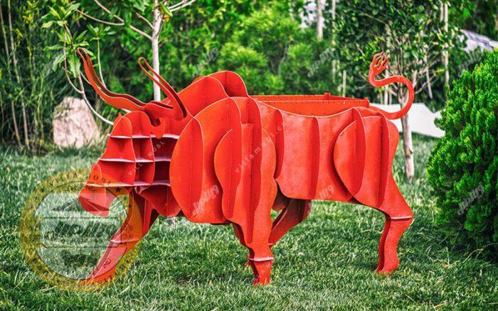 باربیکیو زغالی مدل بوفالو قرمز