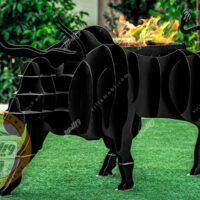 باربیکیو زغالی مدل بوفالو سیاه