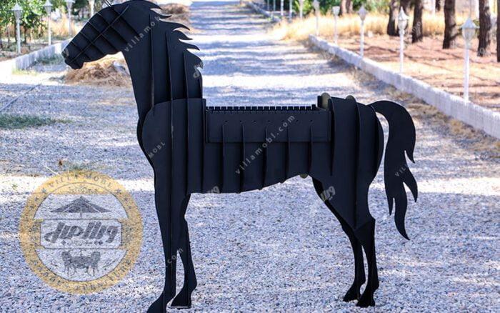 باربیکیو زغالی مدل اسب