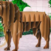 باربیکیو زغالی مدل شیر قهوهای