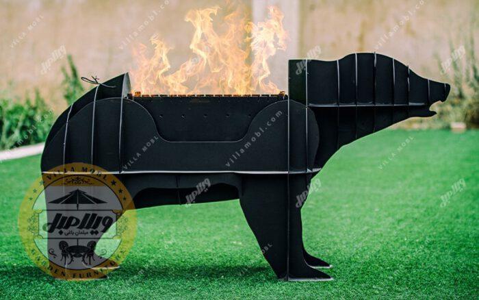باربیکیو زغالی مدل خرس کوچک