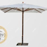 سایبان چتری چوبی مدل الدورا مربع