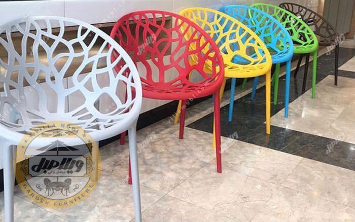 صندلی پلیمری مدل شاخو برگی