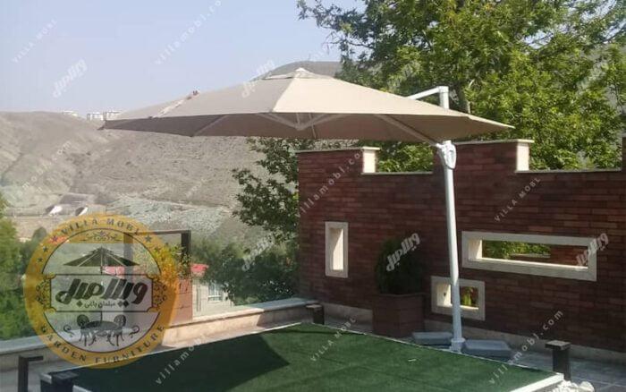 چتر و سایبان پایه کنار مدل کارینا هشت ضلعی 3 متری