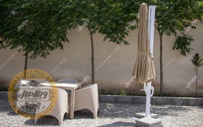 چتر و سایبان پایه کنار مدل کارینا 3 متری