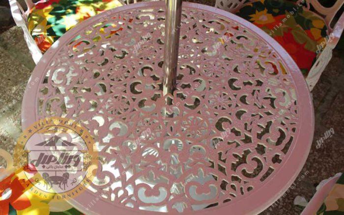میز باغی آلومینیوم قطر ۸۵ سانتی متر