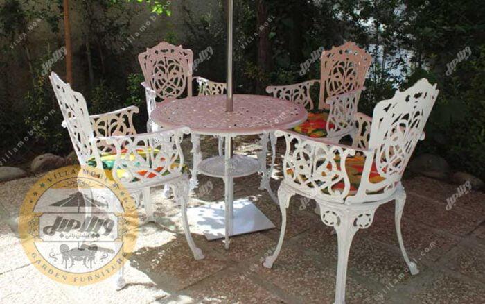 میز باغی آلومینیوم قطر ۸۵ سانتی