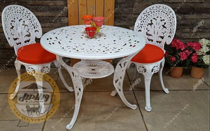 میز باغی آلومینیوم قطر ۸۵ سانت