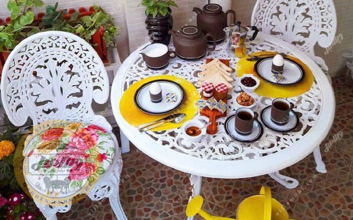 میز باغی آلومینیوم قطر ۸۵