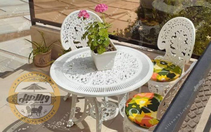 میز باغی آلومینیوم قطر ۱۰۵ سانتی متر