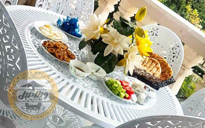 میز باغی آلومینیوم قطر ۱۰۵ سانتی
