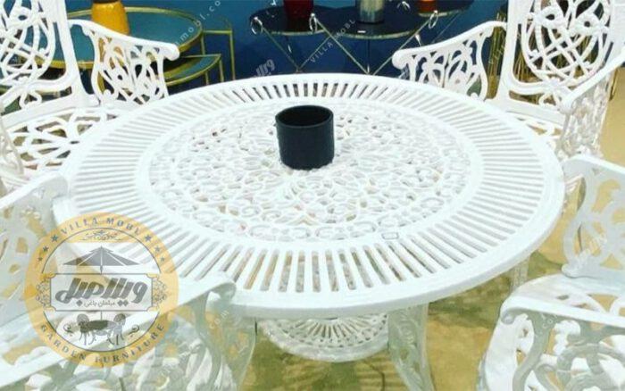 میز آلومینیوم قطر ۱۰۵ سانتی متر