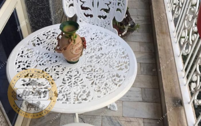میز باغی آلومینیوم قطر ۶۰ سانتی متر