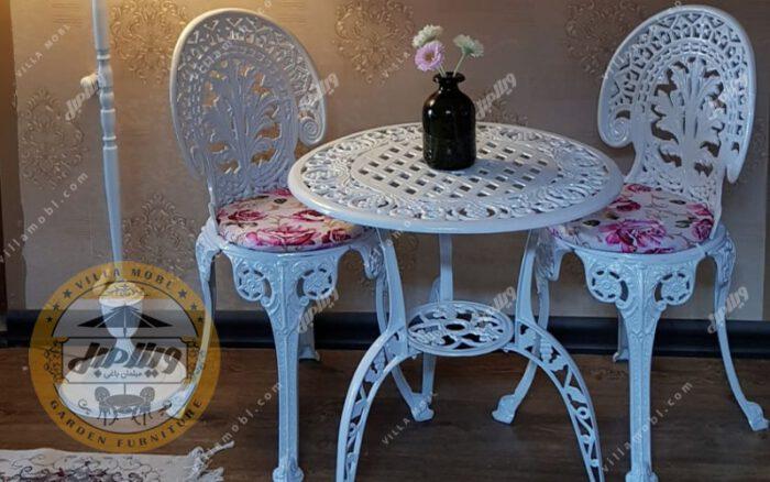 میز آلومینیوم قطر ۶۰ سانتی