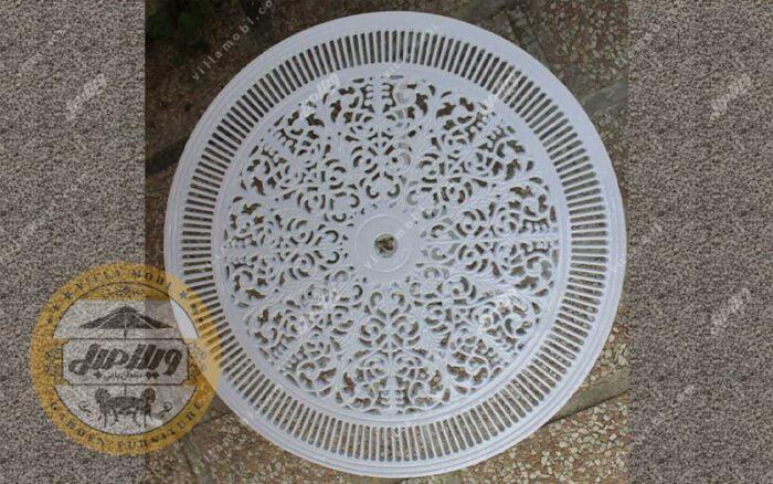 کیفیت میز باغی آلومینیوم قطر ۷۲ سانتی متر