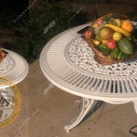 میز باغی آلومینیومی مدل کبریتی