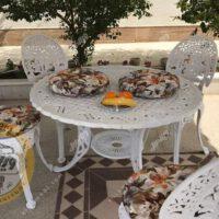 میز باغی آلومینیومی مدل لوزی