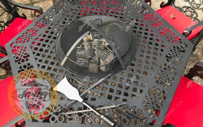 آتشدان 6 ضلعی مدل هخامنشی آلومینیومی